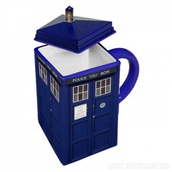 The Doctor Who TARDIS Mug looks like the real thing