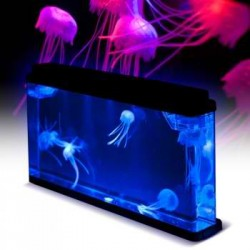 Jellyfish Mood Tank features a calming, realistic jellyfish