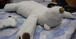 Robot polar bear pillow stops you from snoring