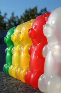 Gummylamp: a giant gummy bear that lights