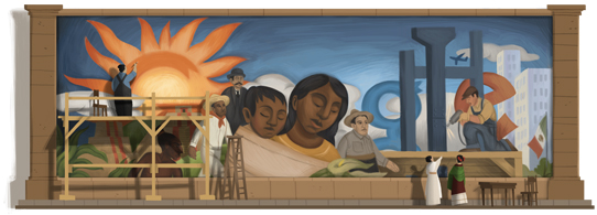 Google celebrates Diego Rivera's 125th birthday