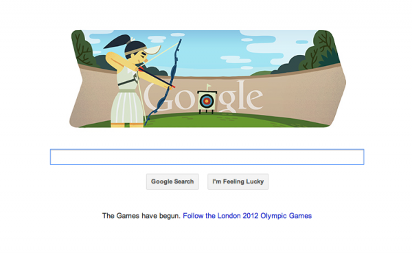 Google Doodle Marks Archery at London 2012 Olympics